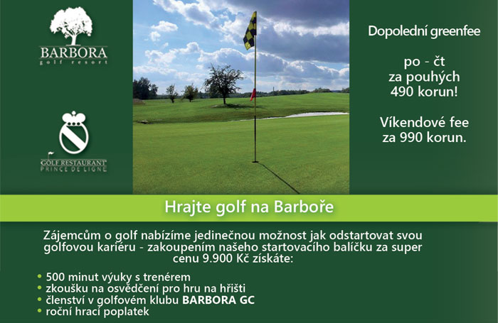 Hrajte golf na Barboře