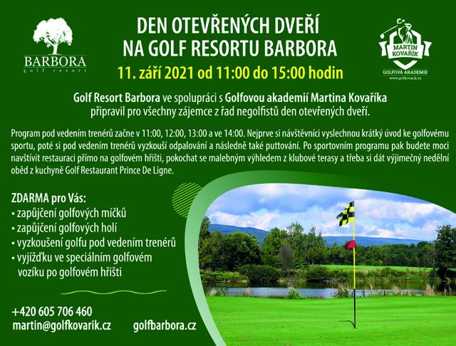 Den otevřených dveří na Golf Resortu Barbora