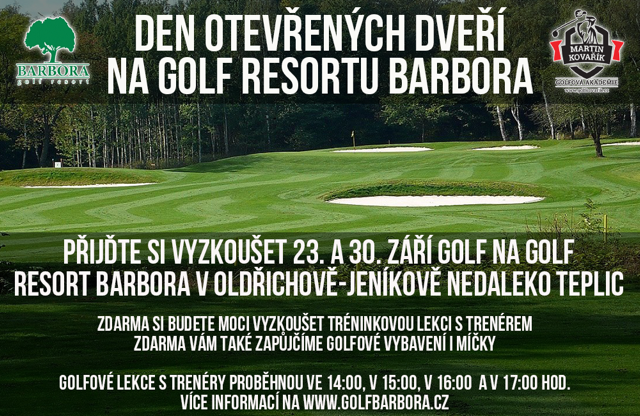 Den otevřených dveří na Golf Resort Barbora