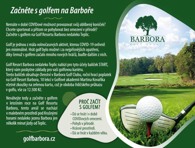 Začněte s golfem na Barboře